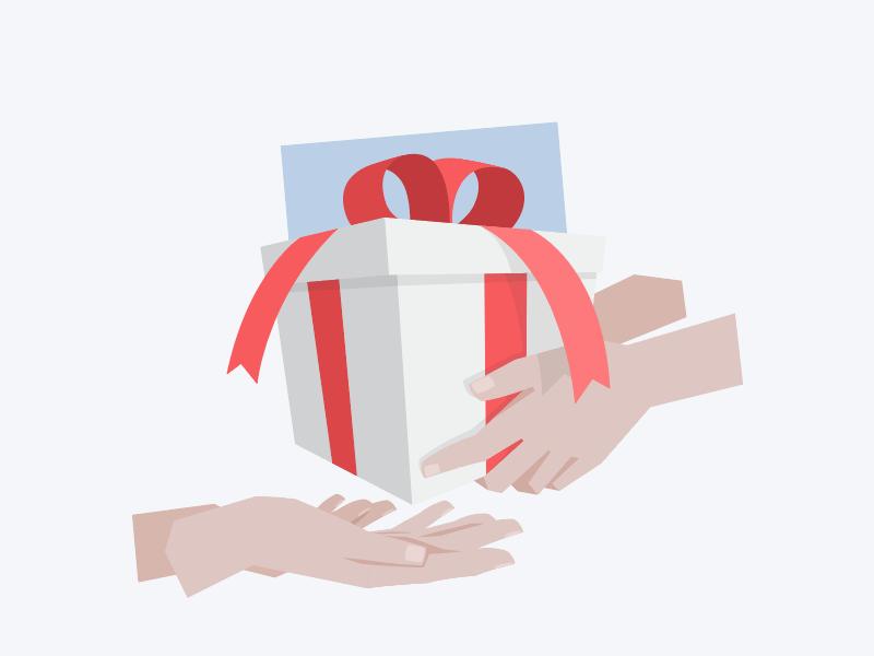 🎁 Super Gift Illustration vector illustration gift present hands hellosuper super
