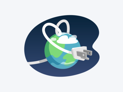🌎 Earth Day energy ecology planet plug appliance day earth vector icon illustration hellosuper super