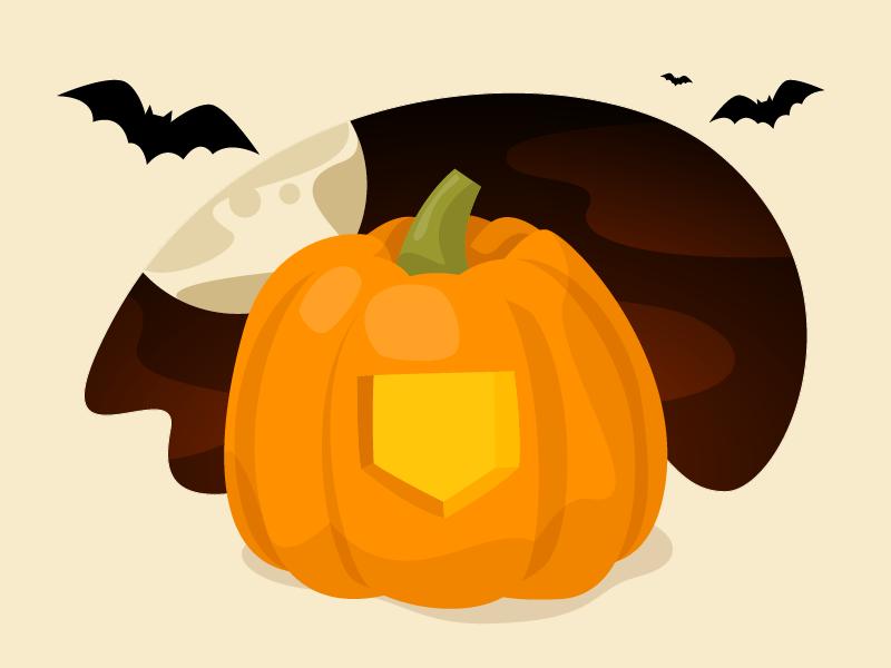 Hello-Super-ween 🌕🎃🦇 hellosuper super fullmoon eve night bats spooky carved pumpkin halloween vector drawing illustration egotreep