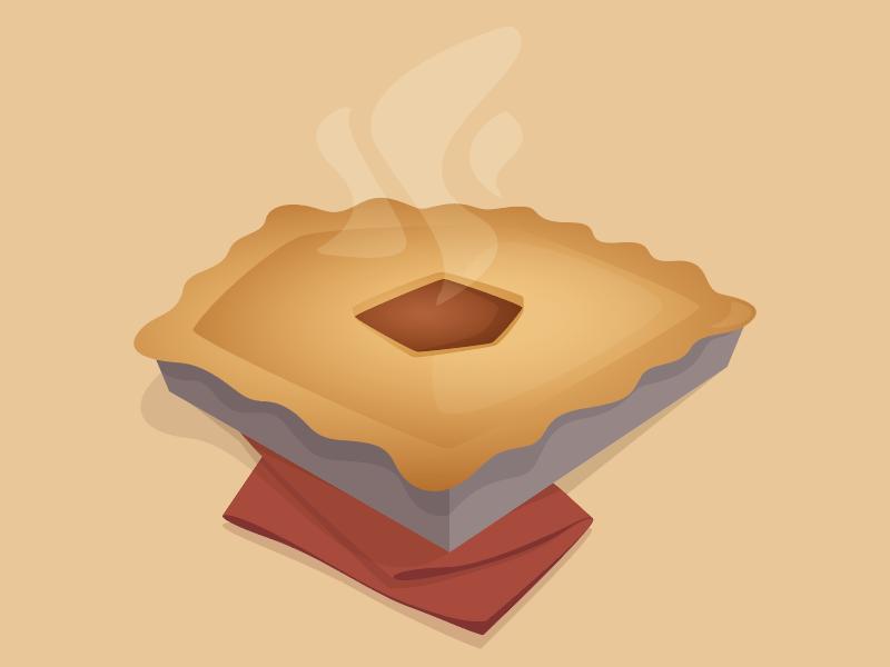 Super Thanksgiving 🥧 logo holiday homemade pie day thanksgiving hellosuper super drawing vector illustration egotreep
