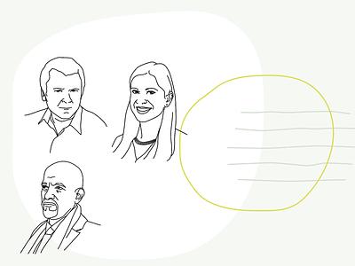 Pressland Team minimal lineart portrait avatar icon character drawing vector egotreep illustration