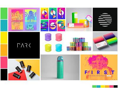 Identity Moodboard: A Brighter Brand bright colors color pallete moodboard inspiration color mood board color pallet branding