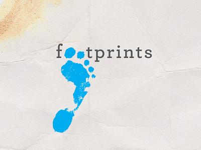 Footprints Logo #2 travel inspiration branding design logo