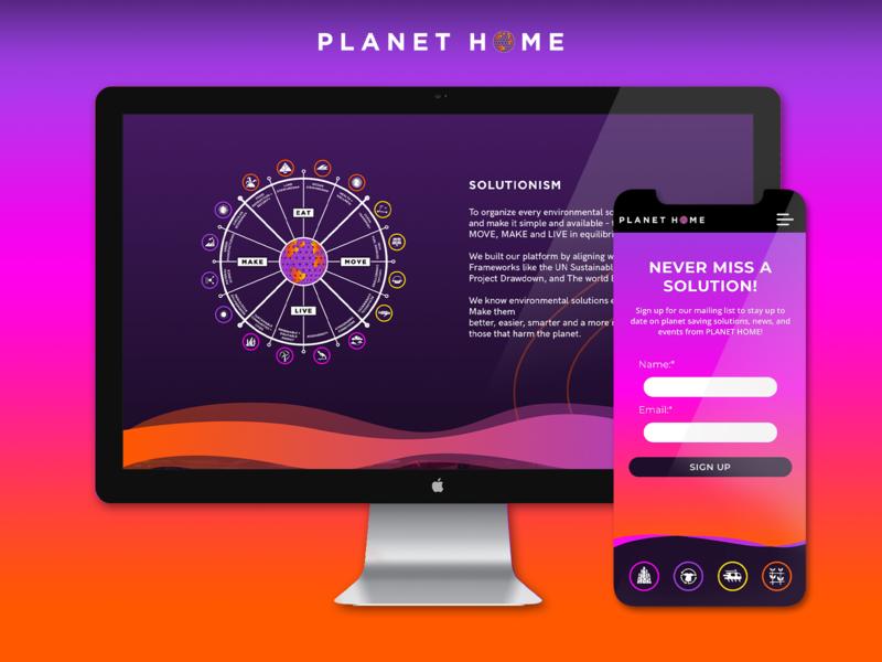 PLANET HOME Digital Identity inspiration website sustainability brand identity brand design digital branding web web design color design branding