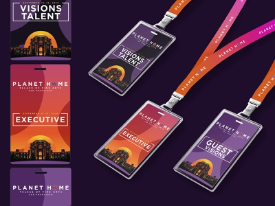 PLANET HOME Event Lanyards identity design identity branding design brand design event branding event design lanyards lanyard event design branding