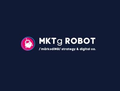 MKTg Robot Logo - Marketing Strategy & Design logo design agency logo