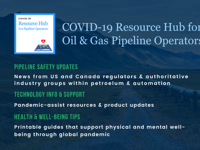 COVID-19 Resources Hub & Logo for NuGen Automation community linkedin description pipeline safety covid19