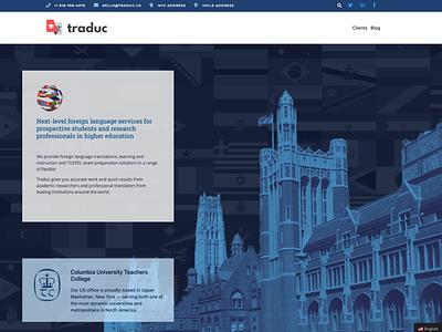 Homepage Design for Langauge Solutions Provider logo visual design ux ui homepage