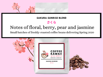 Sakura Sunrise Coffee packaging product design