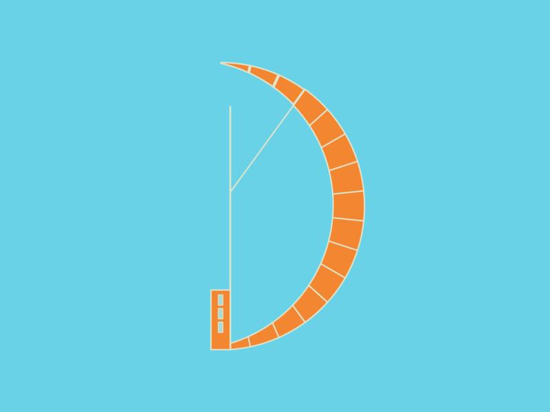 Windsurf windsurf abstract geometic illustraion