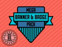 Mega Banner & Badge Pack