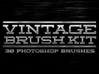 Vintage Brush Kit (Free Sample Inside) vintage brush texture distress vintage texture distress texture photoshop brush free brush