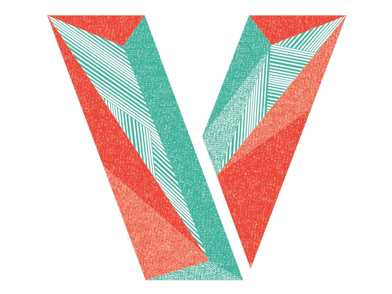 Letter V - for Charity! v letter typography texture distress charity fun burritos matt borchert creative market