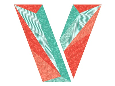 Letter V - for Charity! v letter typography texture distress charity fun burritos matt borchert creative market