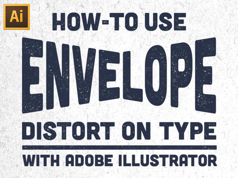 Envelope Distort on Type Tutorial adobe illustrator illustrator tutorial illustrator tutorial typography youtube matt borchert