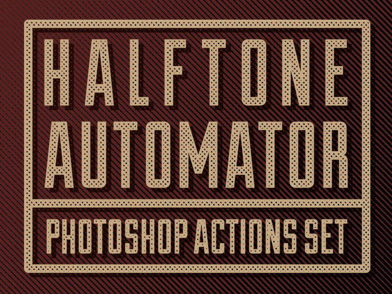 FREE! Halftone Automator Photoshop Action Set free photoshop action photoshop action halftone design resource resource matt borchert