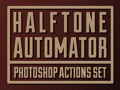 FREE! Halftone Automator Photoshop Action Set free photoshop action photoshop action halftone design resource resource matt borchert