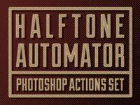FREE! Halftone Automator Photoshop Action Set
