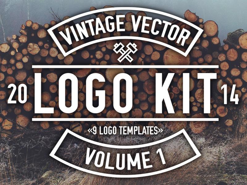 Vintage Vector Logo Kit vintage vector logo vector logo logo kit logo template illustrator matt borchert creative market
