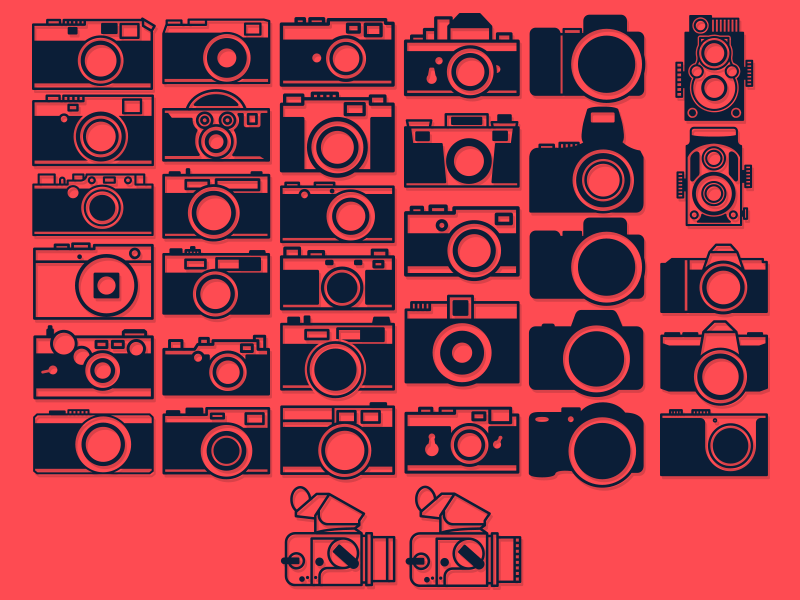Camera Icon Mega Overload icon camera photography vector illustrator logo