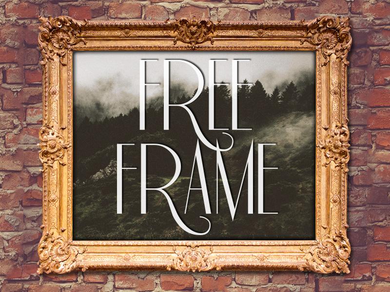 Free Frame Mockup frame mockup mock up photoshop frames classy burrito