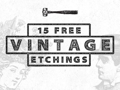 15 Free Vintage Etchings