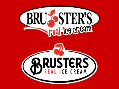 Old vs. New - Brusters Logo Redesign brusters dailylogochallenge logo branding simple logodesign illustrator