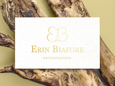 Branding for Erin - Business Card butterfly icon illustrator logo logodesign design branding simple
