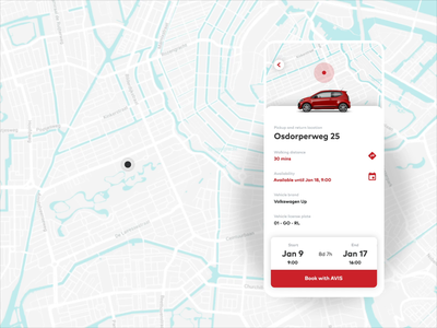 Carsharing service — Rental spaces android ios exploration concept booking mobile ui electric car rental app automotive location based map interaction design animation ui ux