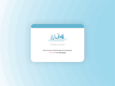 Daily UI Day 8: 404 Page 404page daily ui dailyuichallenge ux illustration vector ui design