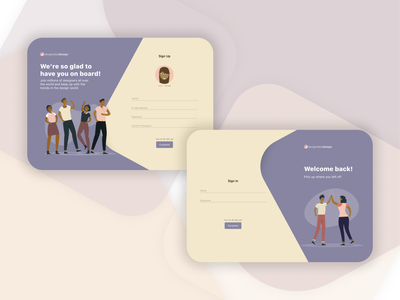 Daily UI Day 1: Login/Sign Up desktop ui design uidesign ui design sign up page login page daily ui dailyuichallenge ux ui design