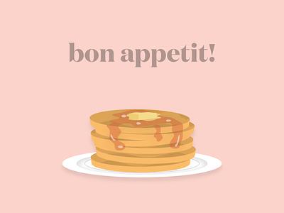 Illustrations: Bon Apple Teeth!! figmaart figmadesign pancakes food vector illustration design