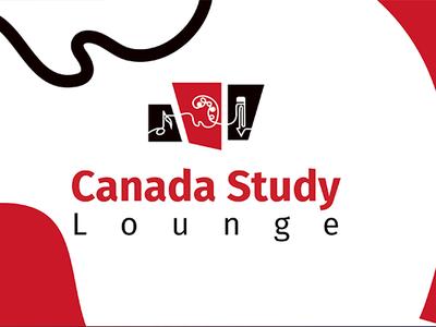 Canada Study Lounge Website typography brand concept web icon ux design ui vector logo corporate identity branding concept branding banner ads illustrator illustration