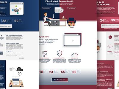 Website Design for G-Smart Web type minimal website flat animation banners web branding design logo vector ui ux banner ads blue corporate identity illustration branding concept illustrator brand concept