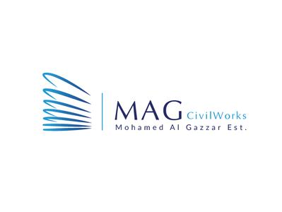 MAG Civil Works | Corporate Identity | KSA uiux stationary branding civilworks blue illustration logo design banner ads corporate identity brand concept