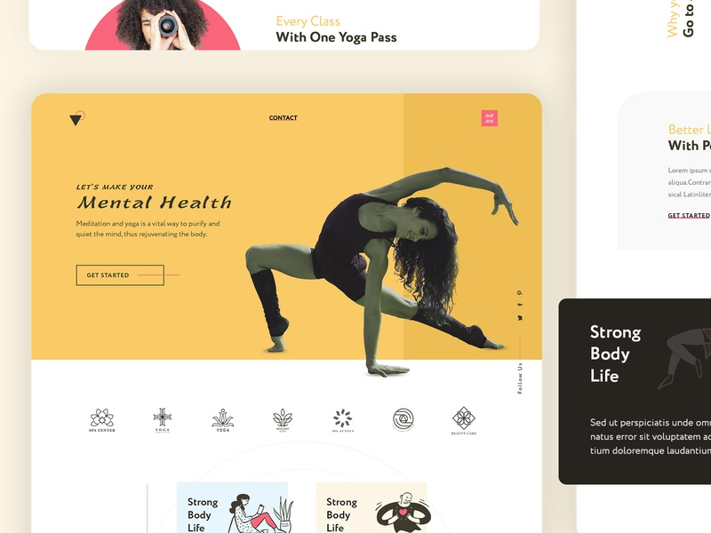 Yoga Website Template Design wordpress websitedesign uidesign branding design yoga website yoga studio website design webdesign web design website uiux product design clean  creative webdesigner landing page