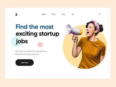 Jobs Webpage websitejobs jobseeker after effects animation uiuxdesign uidesign website design webdesigner landing page clean clean  creative modern design branding