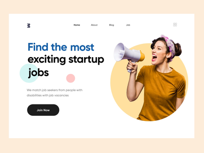 Jobs Webpage websitejobs jobseeker after effects animation uiuxdesign uidesign website design webdesigner landing page clean clean  creative modern design branding