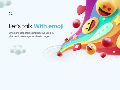 Let's Talk Emoji Landing Page emoji emojiexperts after effect aftereffects uiuxdesign uidesign website design webdesigner landing page clean clean  creative modern design branding