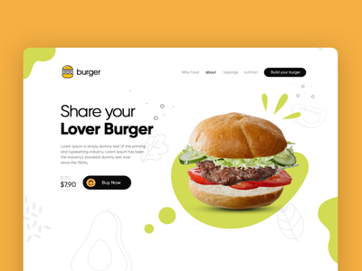 Burger shop website home page Animation smashburger whataburger wendys fastfood foodie burger king burger motion design aftereffects webdesigner landing page clean  creative design branding