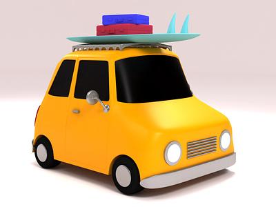 Road Trip Car : 3dsMax maya 3d 3d art car model roadtripcar roadtrip illustration cinema4d character 3dsmax car 3d
