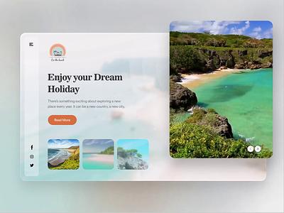 Enjoy your Holiday: BOOK YOUR ROMANTIC BEACH GETAWAY webdesign website design landingpages vacation travel beach house beach landing page clean clean  creative modern design branding