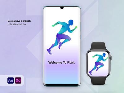 Fit-bit helps you reach your goals watch tracker finess fitbit tracker app app ui android app design ios app design app design clean  creative modern design branding