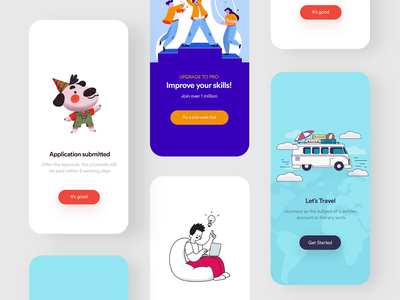 Different types of illustration popups popart illustration design illustration popup design popups popup clean clean  creative modern design branding