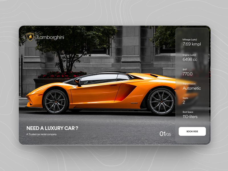 Dream Car Landingpage landing page ui website design landingpage ux design userinterfacedesign dribbble best shot 2020 design 2020 trends landing page concept supercar lamborghini landing page design clean  creative branding