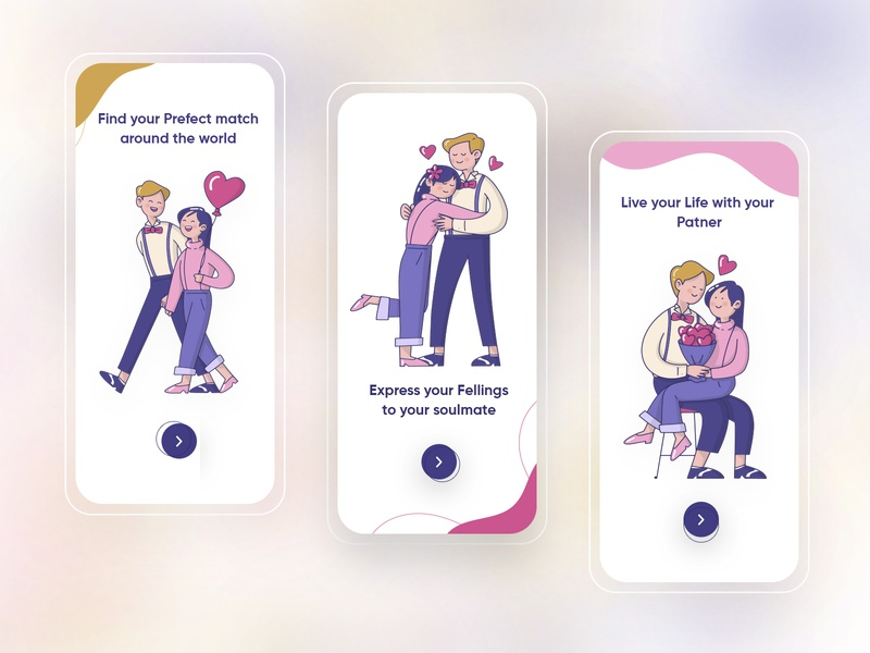 Dating app on-boarding concept trendy design 2020 mobile app design dribbbleweeklywarmup dribbble best shot concept design onboarding ui 2020design 2020 trends dating dating app modern clean  creative design branding