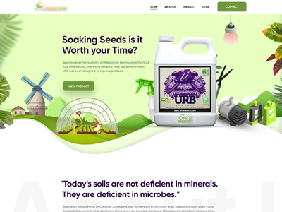 Horticulture Website : Landing Page uidesign branding landing page clean  creative new website design latest design ecommerce website design homepage website motion design motion design modern design december 2020 design 2020 trends landing page design horticulture