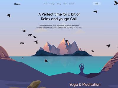Yoga and Meditation Website: Motion Graphic design studio minimalism motion motion graphics website design web layout web animation