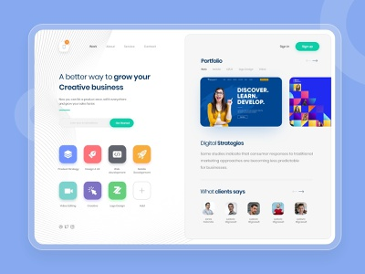 Explore your business to World:  Portfolio Website Design 2021 design 2021 trend creativity themeforest portfolio website selling design website concept website design uigiants dribbble business explorers design clean  creative branding