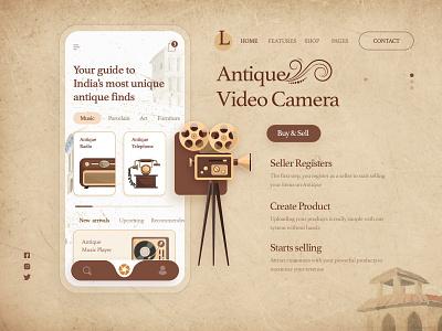 Antique shop App Design: Product Design 2021concept product design uiux uxdesigner creative design clean ui modern mobile app design productdesign app design shop antiques